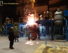 induction furnace ICMEF-2.5-1 melting of metal