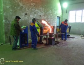 induction furnace for melting of metal