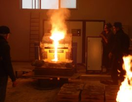 induction furnace for melting of metal ICMEF-0.4