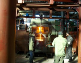 induction furnace for melting of metal ICMEF-2.5-1.5