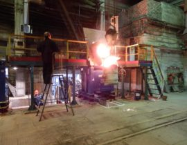 induction furnace for melting of metal ICMEF-2.5-1.6